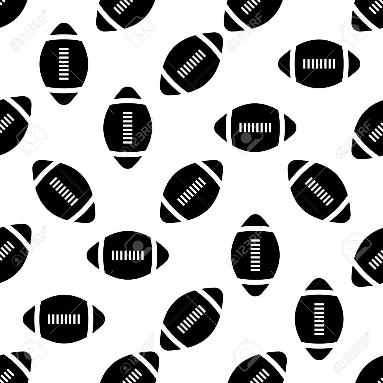 American Football Icon Seamless Pattern, Soccer Ball Seamless Pattern Vector Art Illustration - 149571159