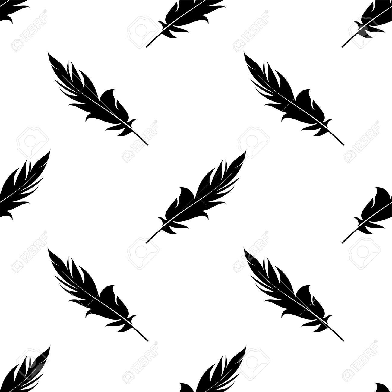 Feather Icon Seamless Pattern Vector Art Illustration - 148090782