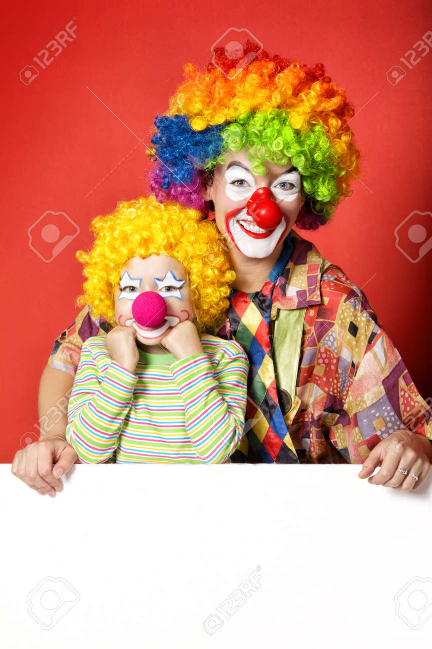 Big And Little Funny Clowns Photo Stock Photo Picture And Royalty