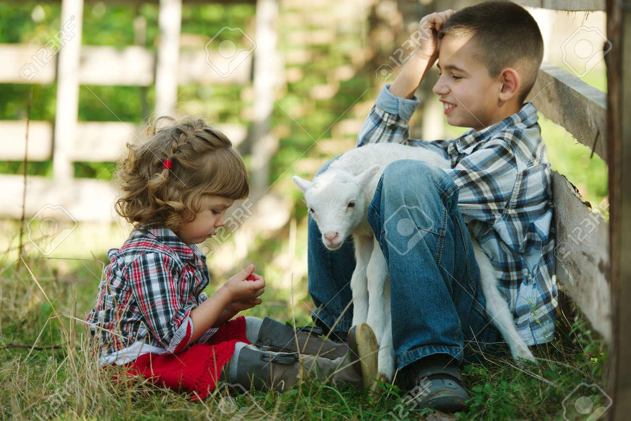 Little Boy On Farm