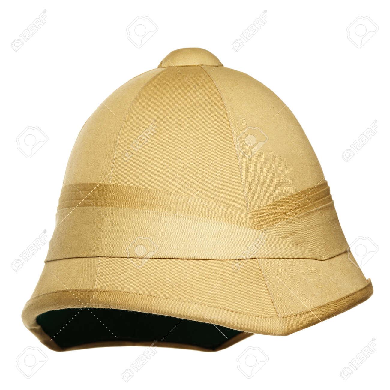 1c747d9f7 yellow safari hat isolated on white background