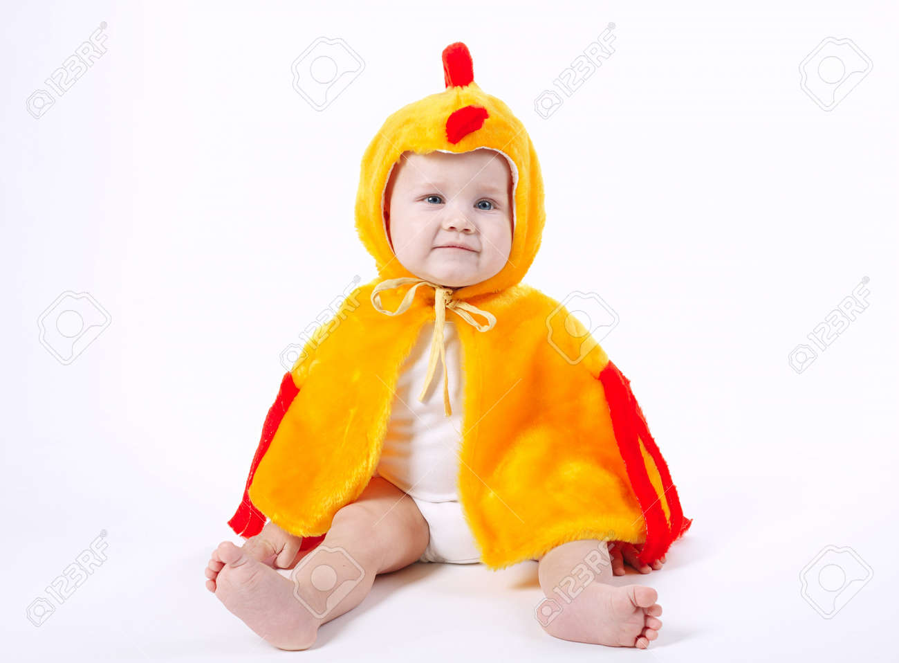 little funny boy in chicken costume on white Stock Photo - 66687038  sc 1 st  123RF.com & Little Funny Boy In Chicken Costume On White Stock Photo Picture ...
