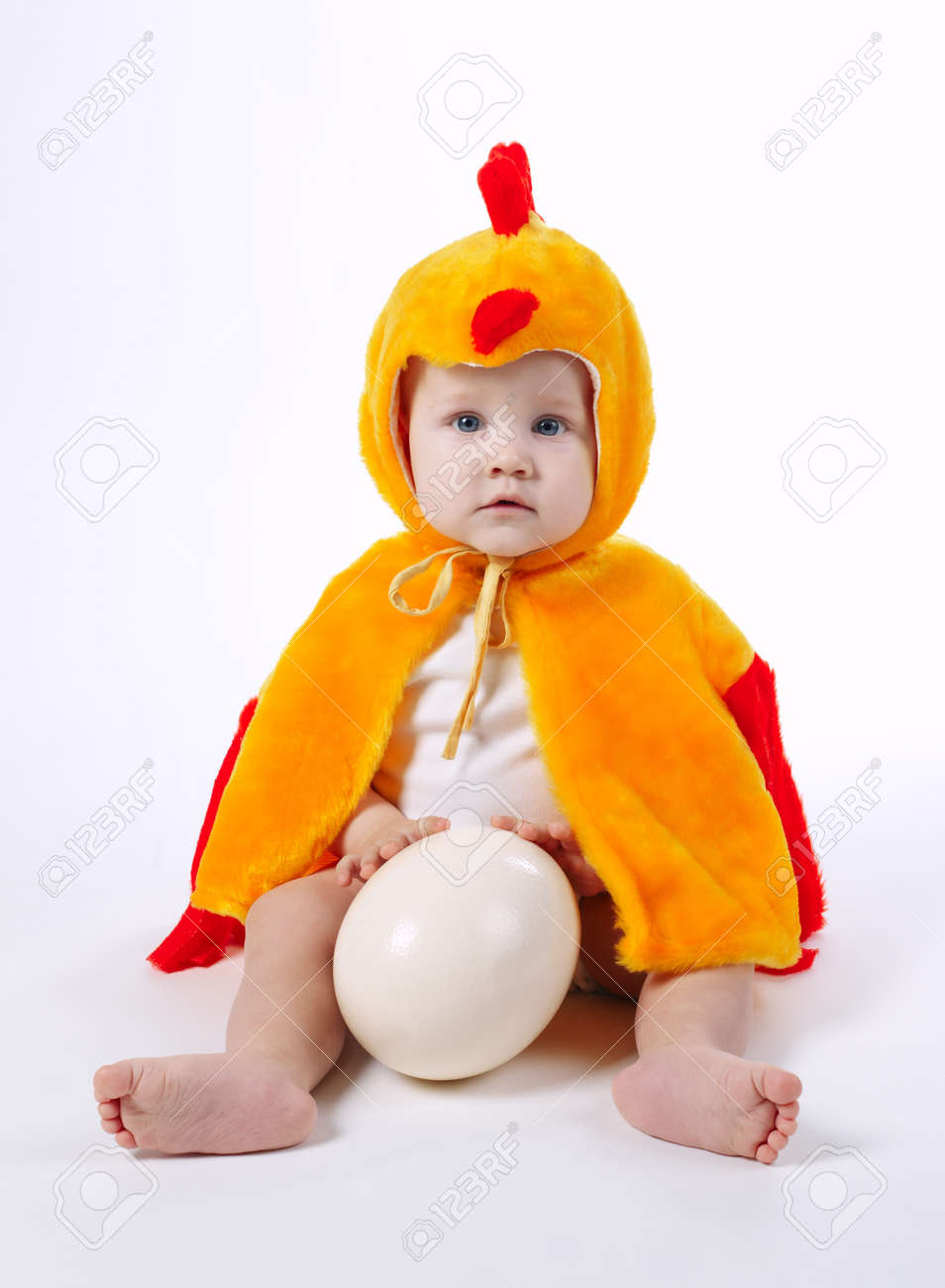 little funny boy in chicken costume on white Stock Photo - 66576967  sc 1 st  123RF.com & Little Funny Boy In Chicken Costume On White Stock Photo Picture ...
