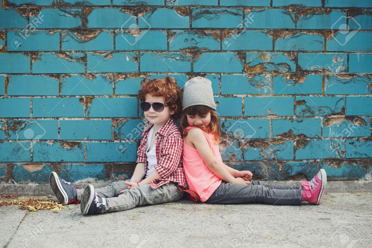Foto di due hipster carini Archivio Fotografico - 78771981