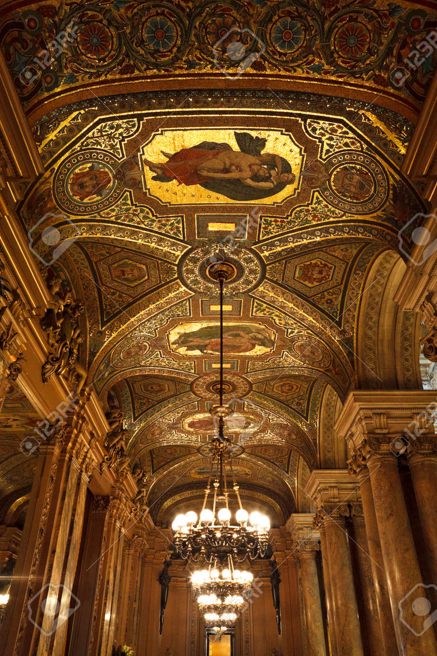 The Opera or Palace Garnier. Interior of the First Foyer. Paris, France. Stock Photo - 22294605