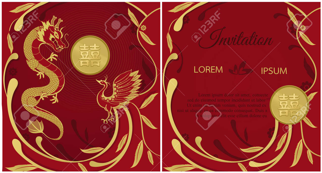 Magnificent Traditional Chinese Wedding Invitations Vignette ...