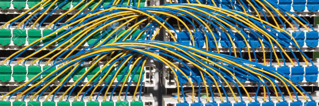 Wiring For Broadband Cabinet, The Interior Of The Street Cabinet ...