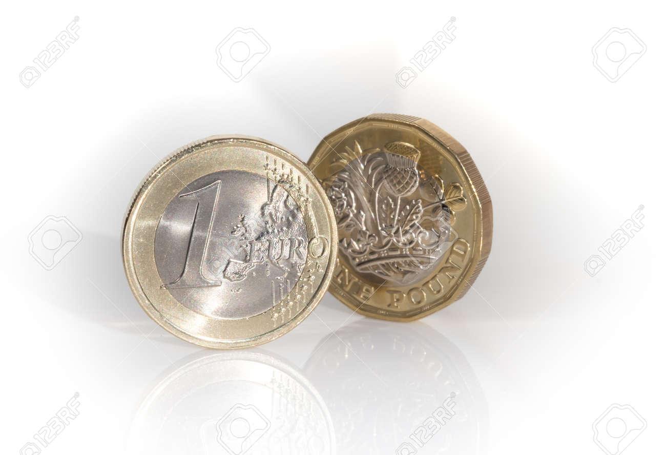 Die Neue Englische Pfundmünze Mit Der Europäischen Währungseinheit