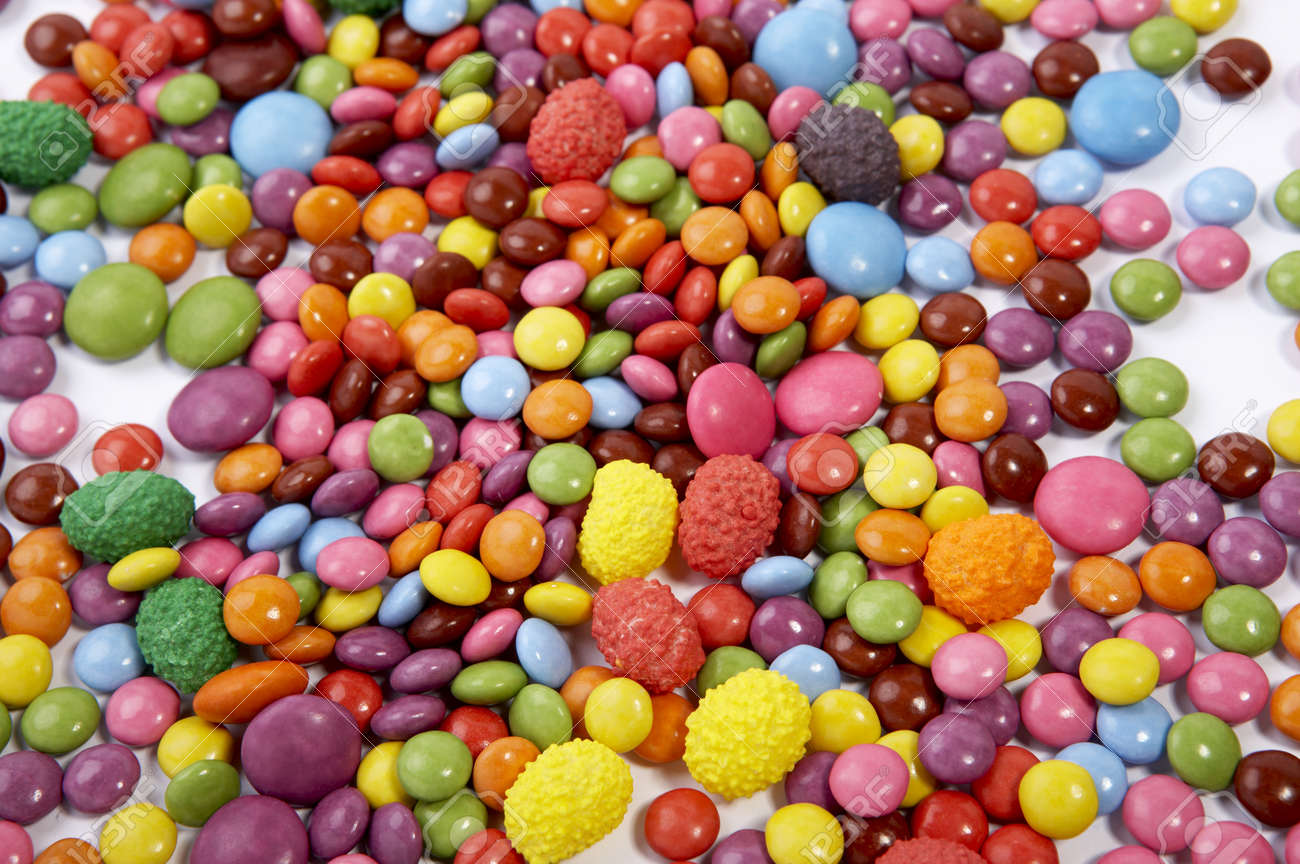 Sweets Mixed Selection Multi Colored Background Sweet Food Stock
