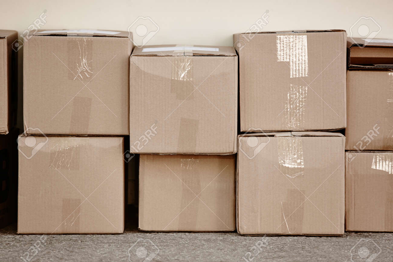 Stacked Cardboard Boxes