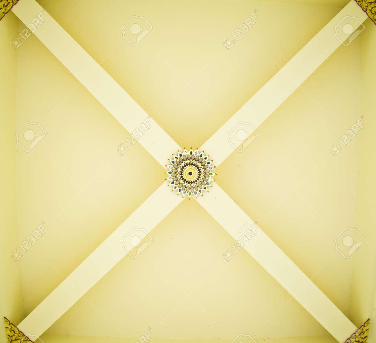 Thai art on temple ceiling Stock Photo - 13618393