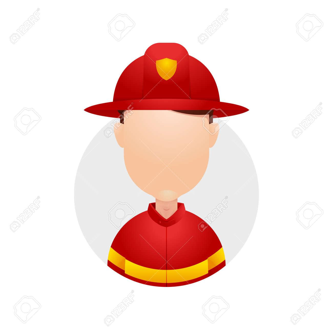 Firefighter fireman rescue hero red helmet uniform character job avatar  Stock Vector - 105639962 878bb23220b1