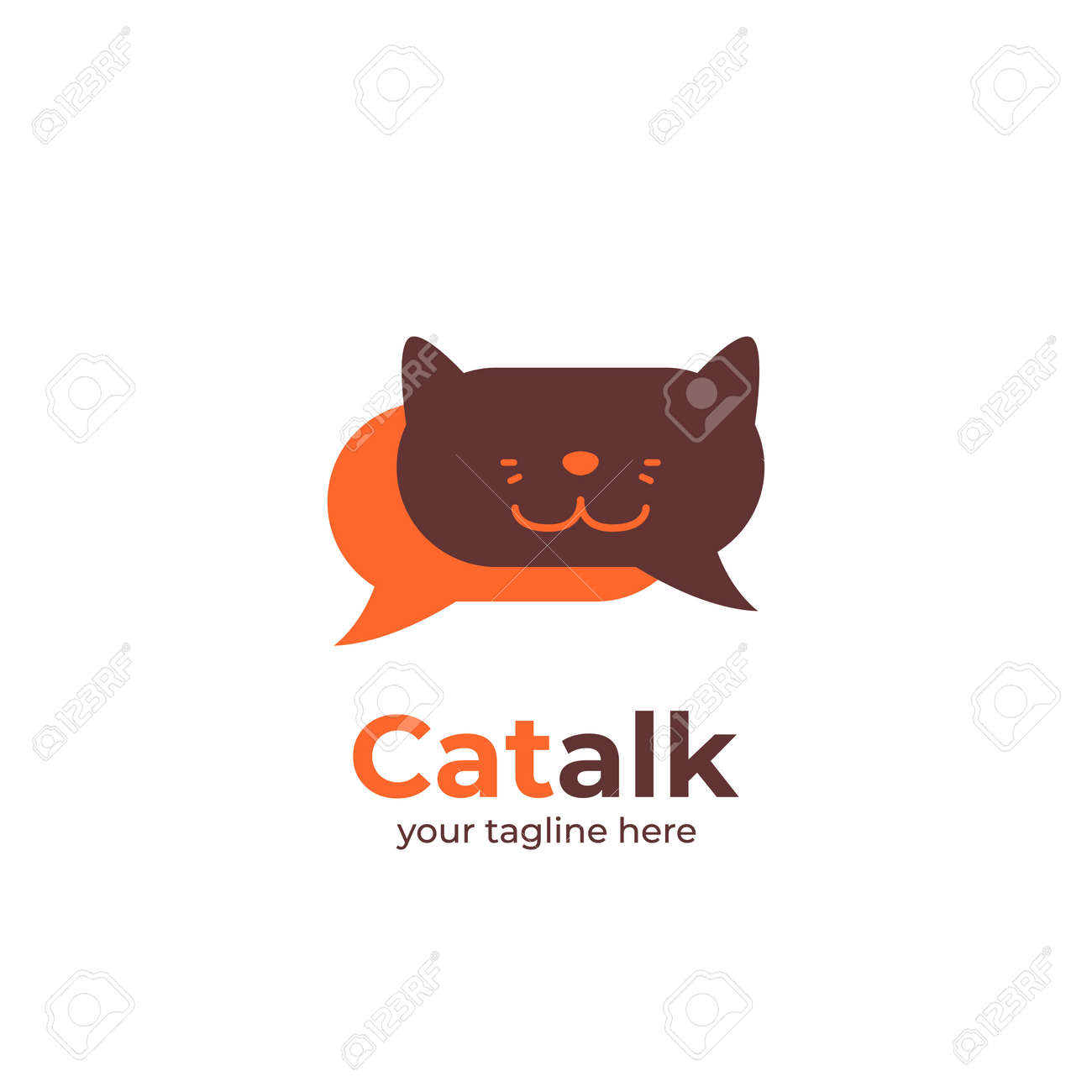 Cat Talk Logo For Forum Community Or Chat App Cat Logo In Bubble Royalty Free Cliparts Vectors And Stock Illustration Image 127323668