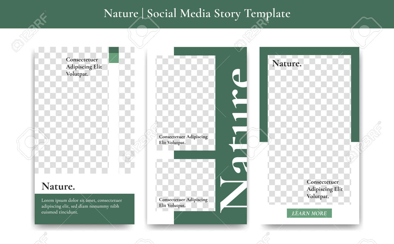 green nature version 2 social media story vector template with royalty free cliparts vectors and stock illustration image 129069088 123rf com