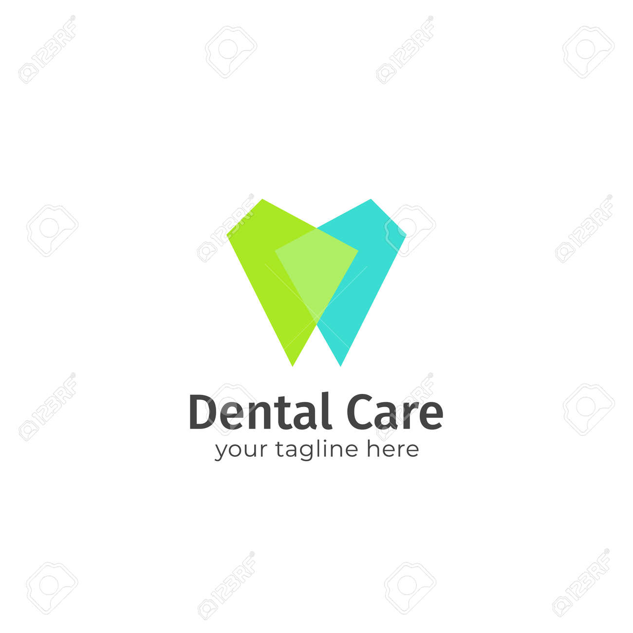 Dental Care Dentistry Teeth Logo Blue And Green Color Overlap Royalty Free Cliparts Vectors And Stock Illustration Image 136958638