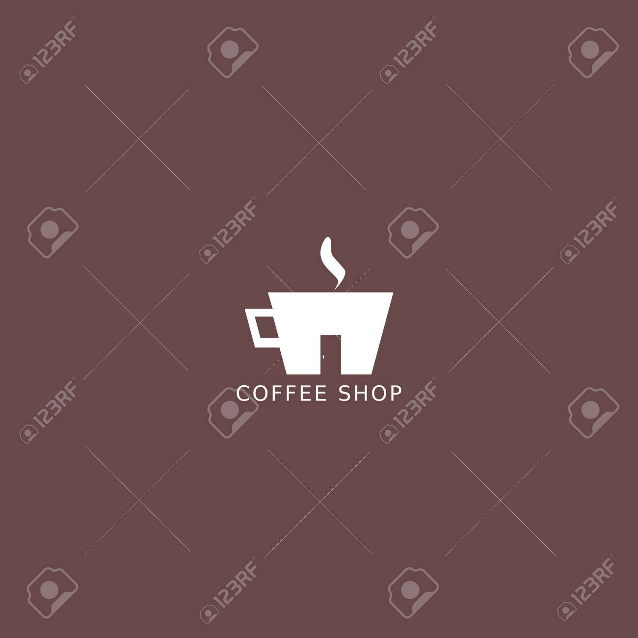 Coffee Shop Logo Simple Natural Home Logo Design Cafe Or Restaurant Royalty Free Cliparts Vectors And Stock Illustration Image 153250979
