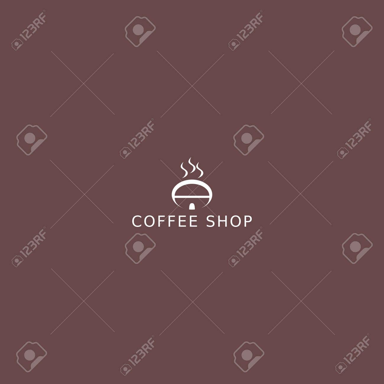 Coffee Shop Logo Simple Natural Home Logo Design Cafe Or Restaurant Logo Coffee And Tea Shop For Business Ilustraciones Vectoriales Clip Art Vectorizado Libre De Derechos Image 153250986