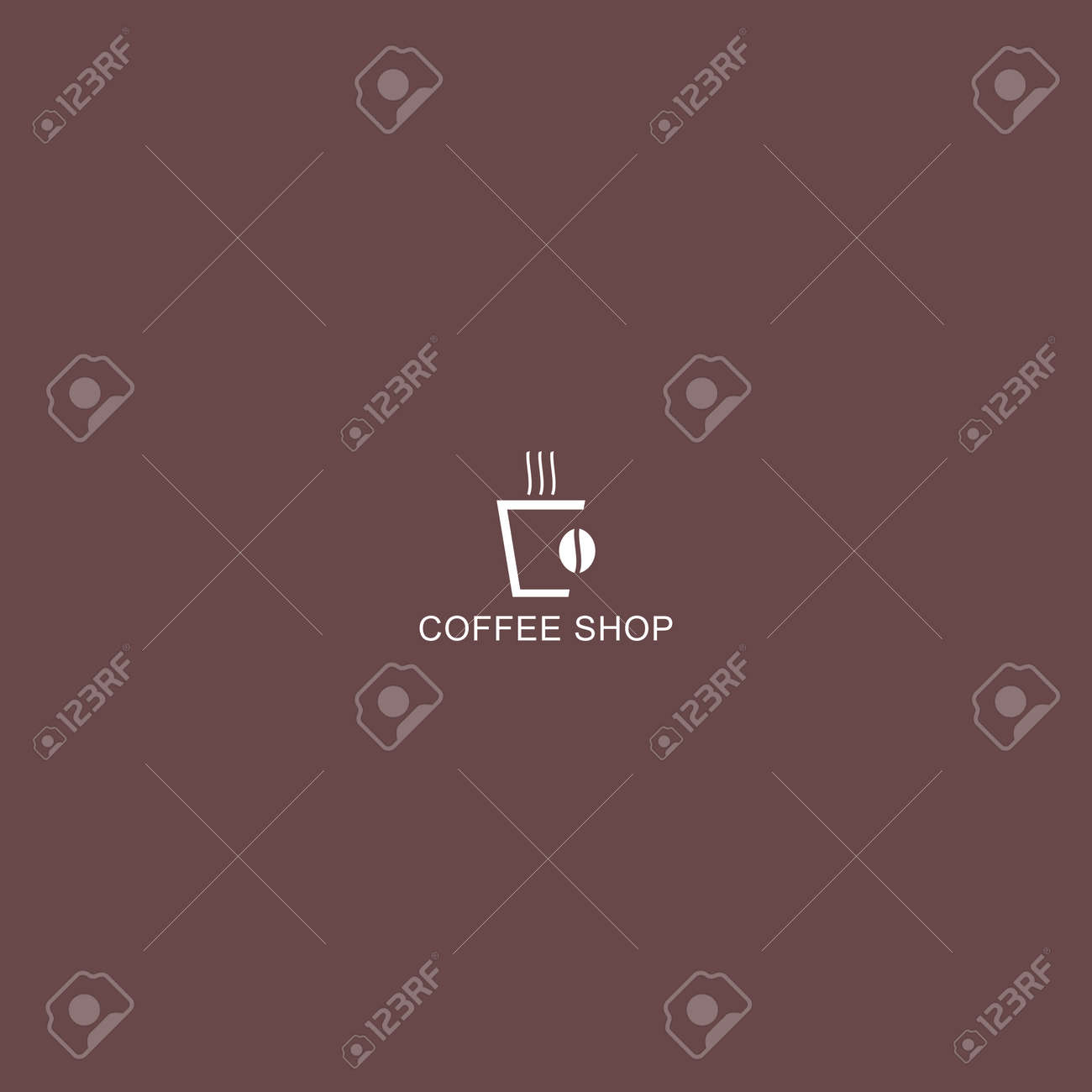 Coffee Shop Logo Simple Natural Home Logo Design Cafe Or Restaurant Royalty Free Cliparts Vectors And Stock Illustration Image 153250992