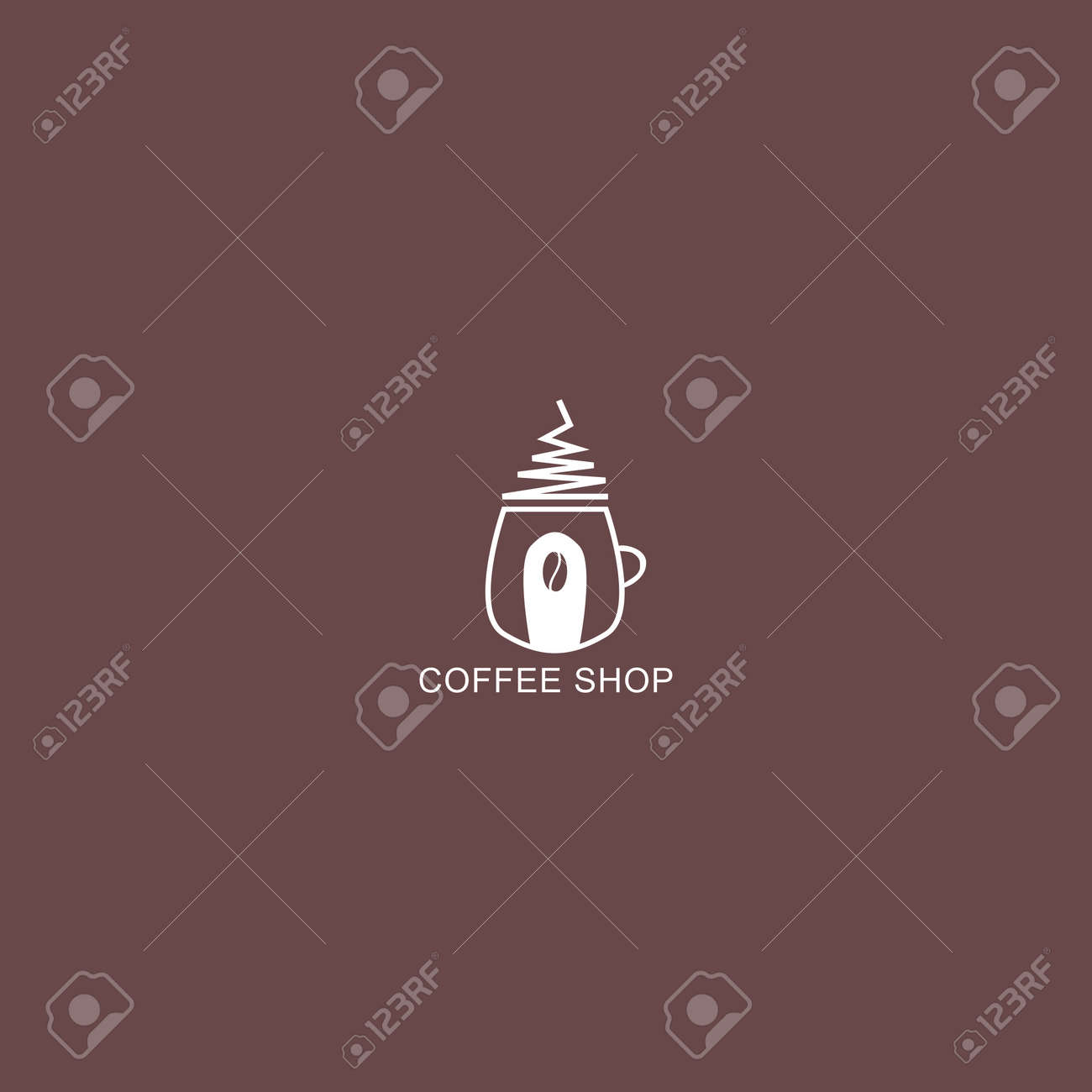 Coffee Shop Logo Simple Natural Home Logo Design Cafe Or Restaurant Royalty Free Cliparts Vectors And Stock Illustration Image 153251117