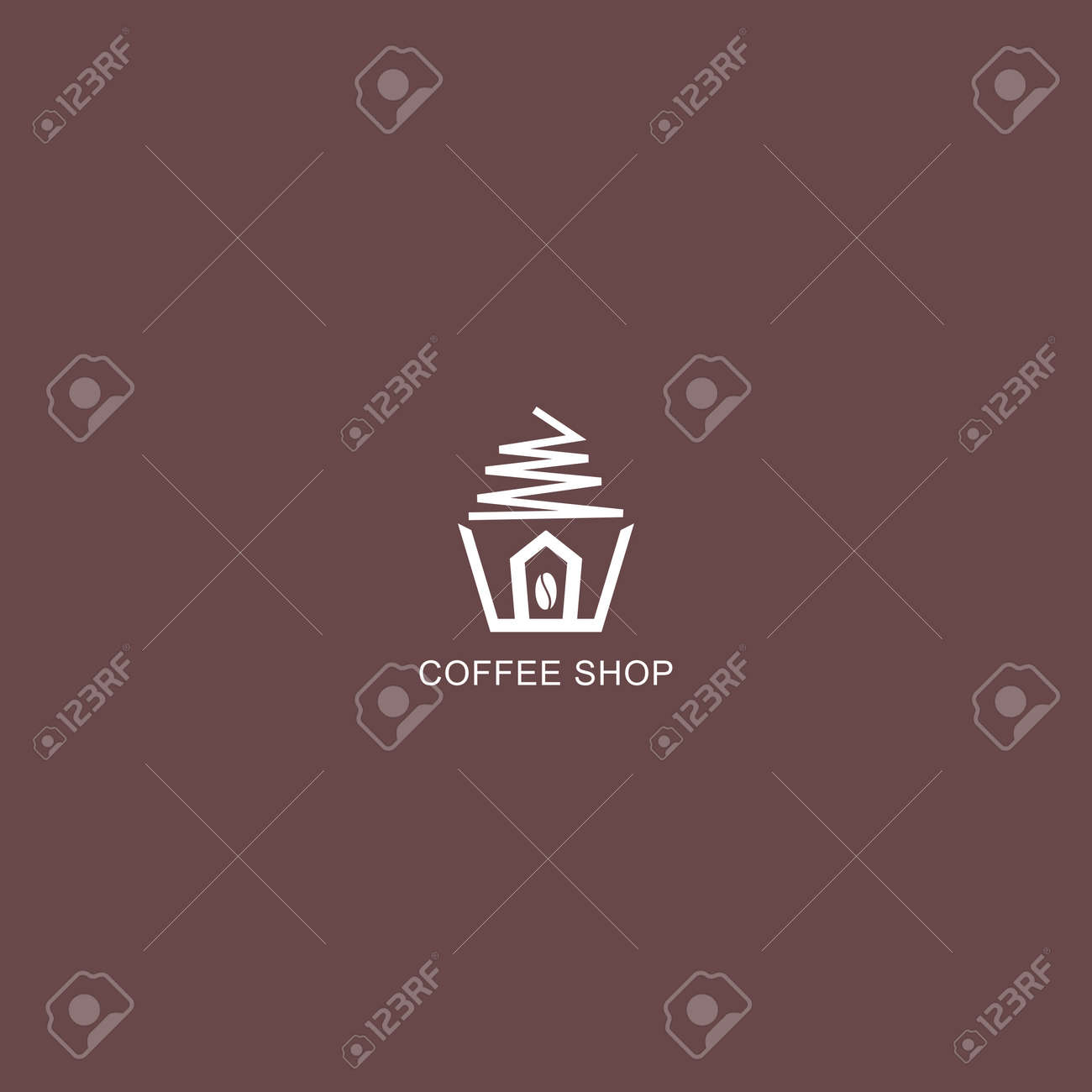 Coffee Shop Logo Simple Natural Home Logo Design Cafe Or Restaurant Royalty Free Cliparts Vectors And Stock Illustration Image 153251118