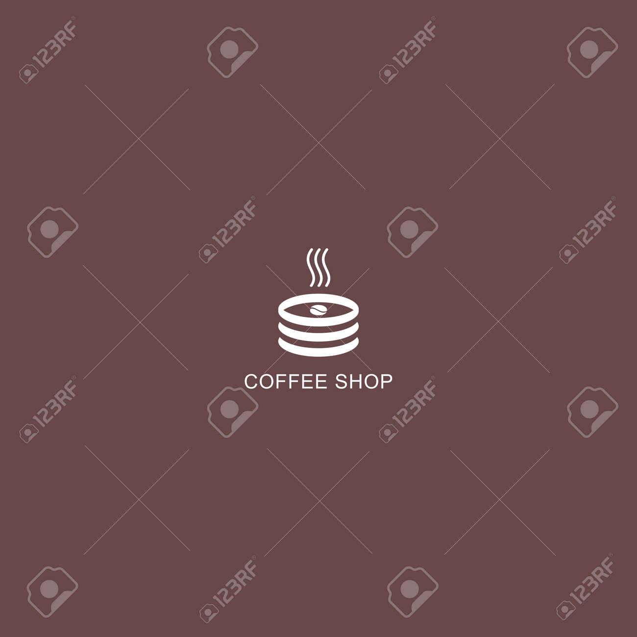 Coffee Shop Logo Simple Natural Home Logo Design Cafe Or Restaurant Logo Coffee And Tea Shop For Business Ilustraciones Vectoriales Clip Art Vectorizado Libre De Derechos Image 153251123