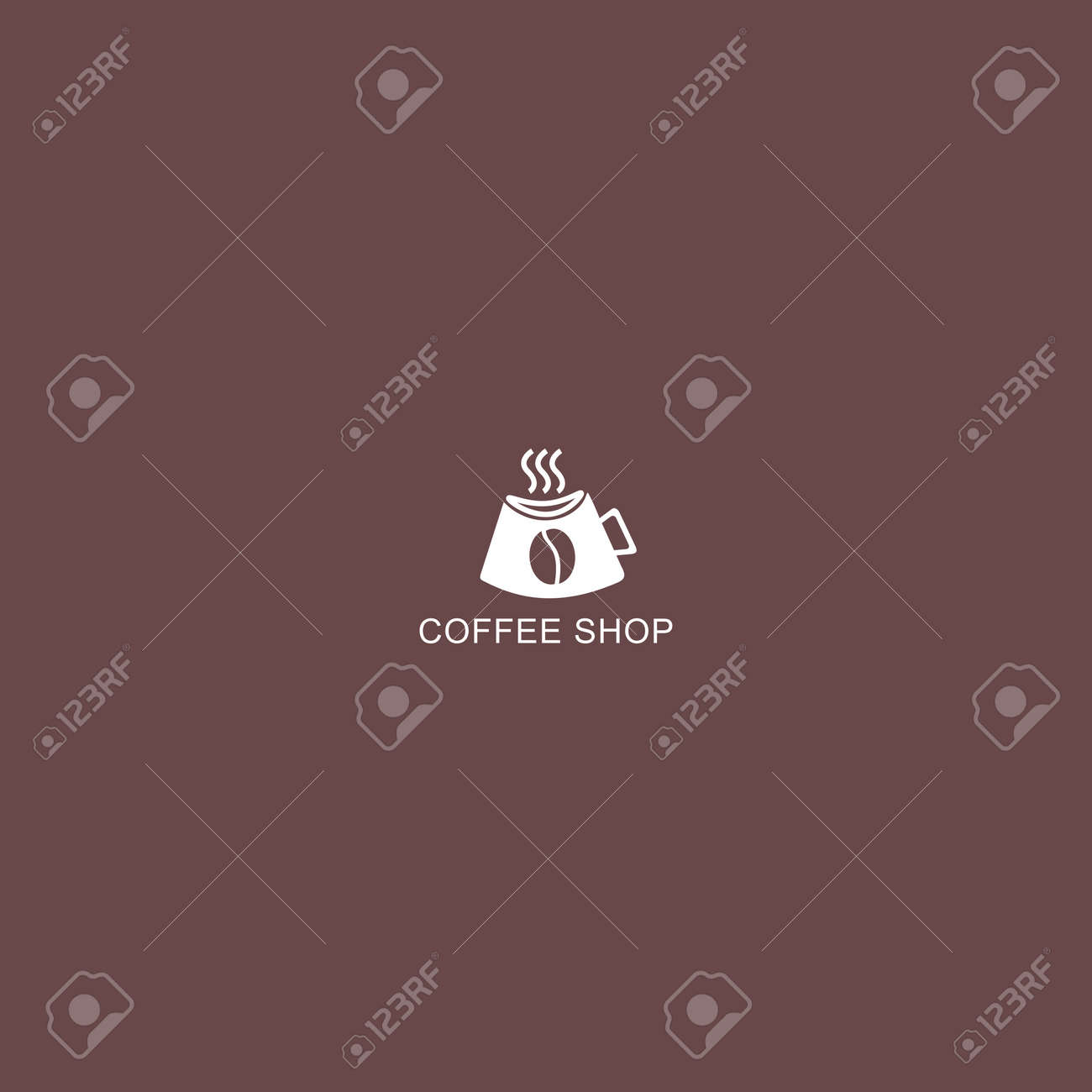Coffee Shop Logo Simple Natural Home Logo Design Cafe Or Restaurant Royalty Free Cliparts Vectors And Stock Illustration Image 153330666