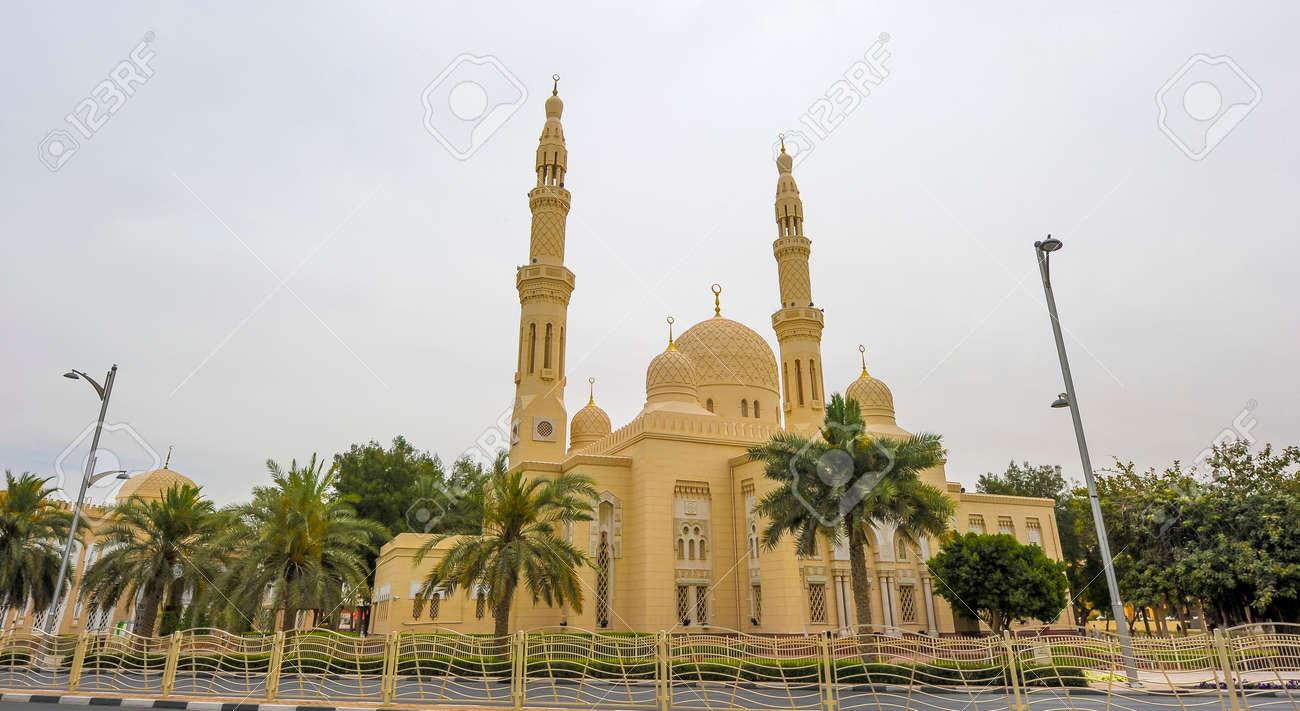 Beautiful Jumeirah Mosque Dubai United Arab Emirates Uae