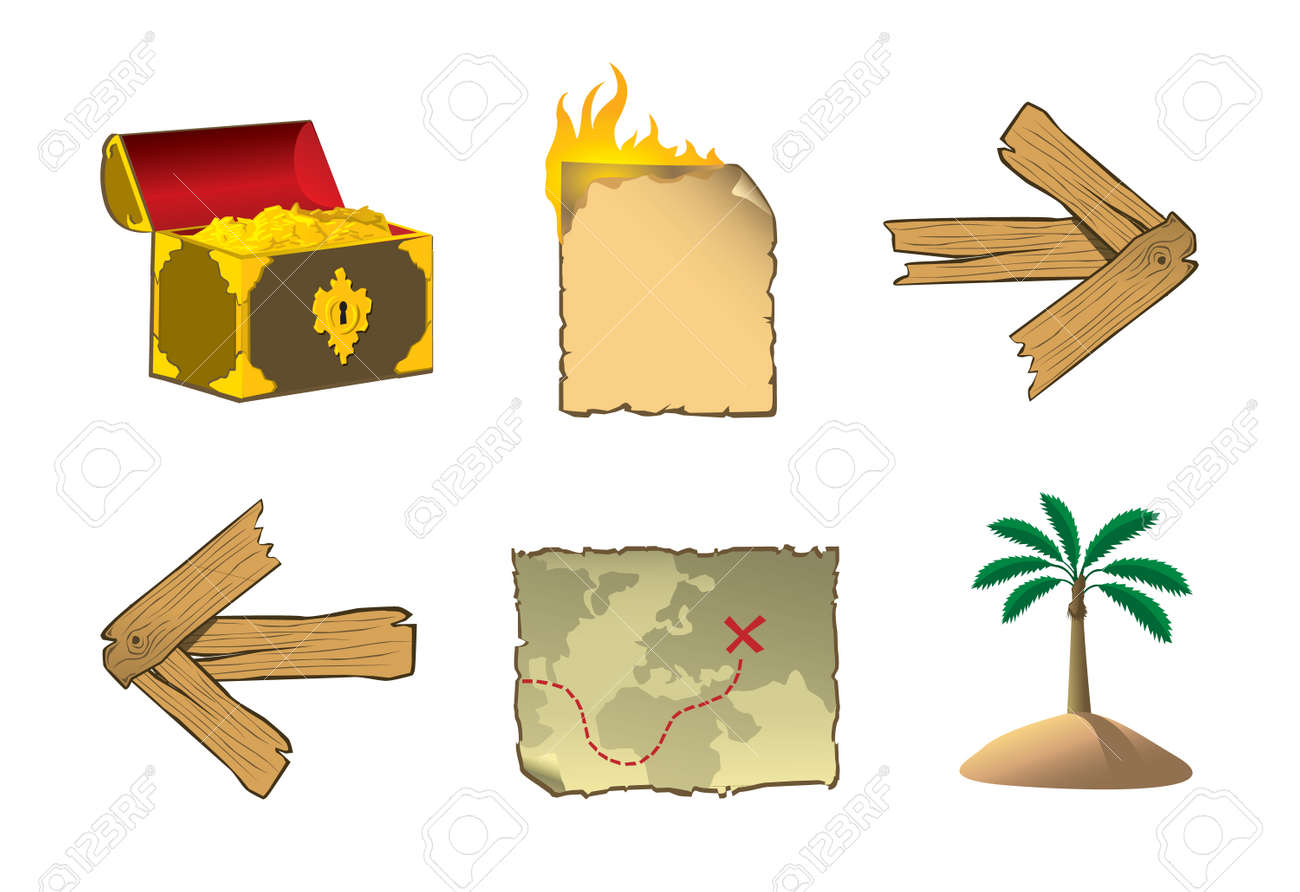 pirate icons Stock Vector - 8695610