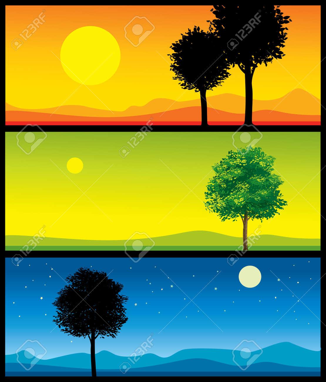 landscape illustrations Stock Vector - 9715612