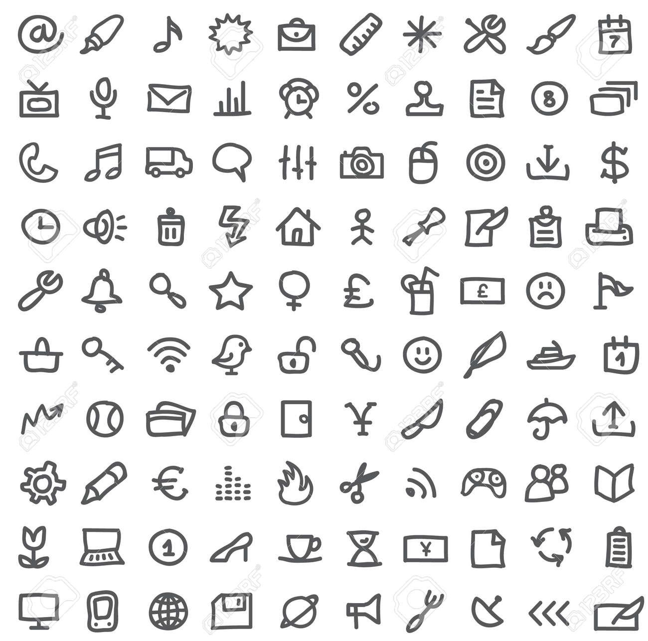 Einfache Symbole Auf Weiß Lizenzfrei Nutzbare Vektorgrafiken, Clip ...