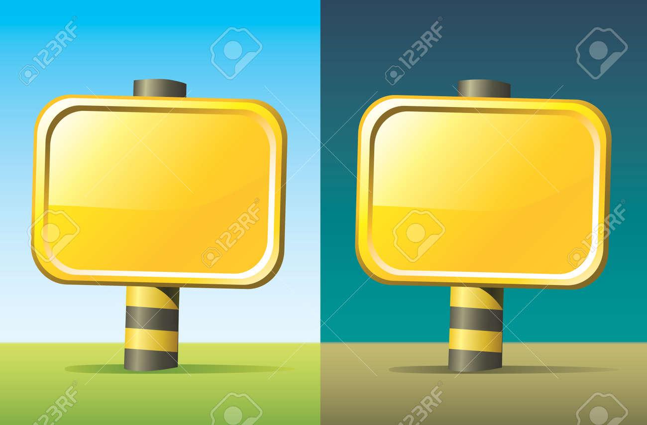 empty sign board Stock Vector - 11072946