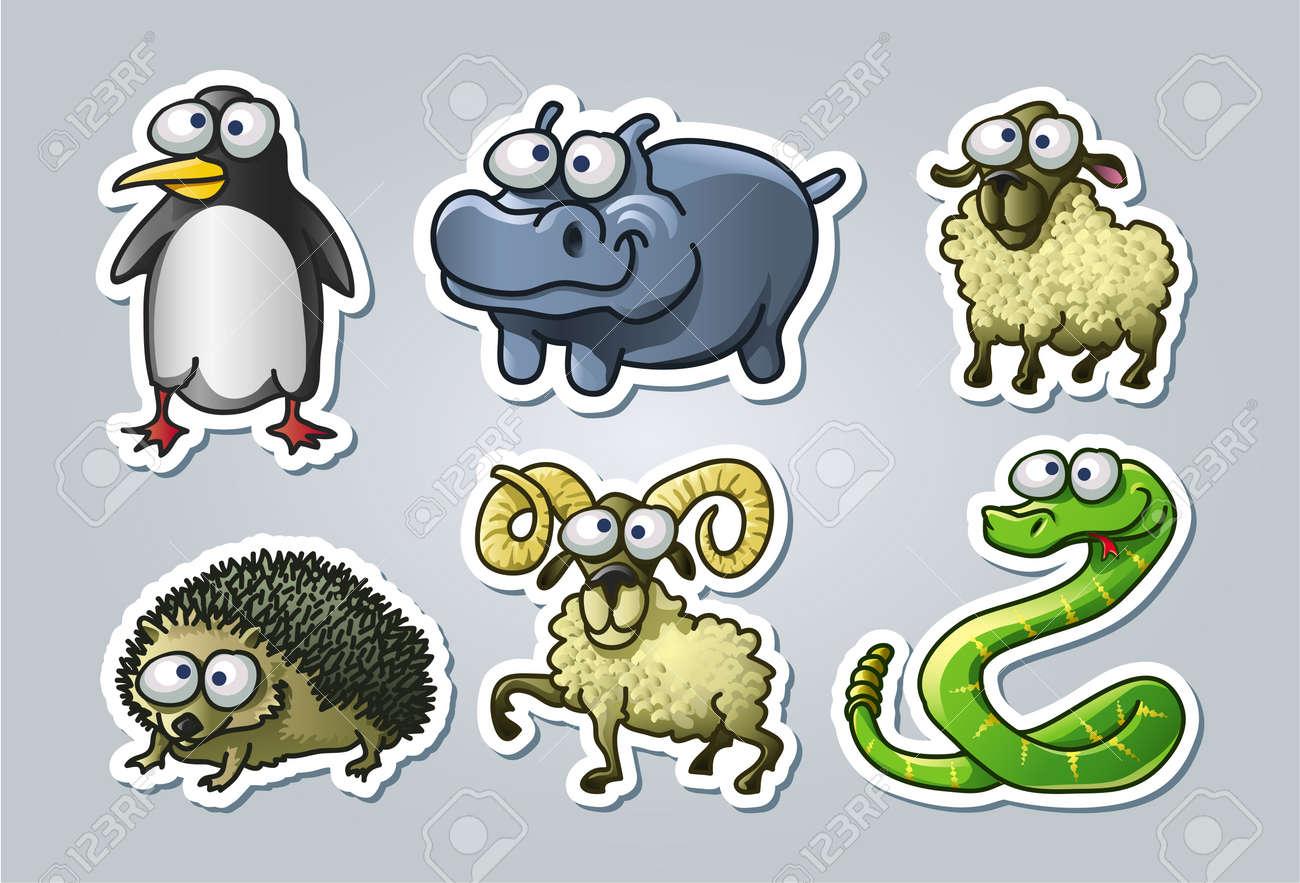 illustrated animals Stock Vector - 15328399
