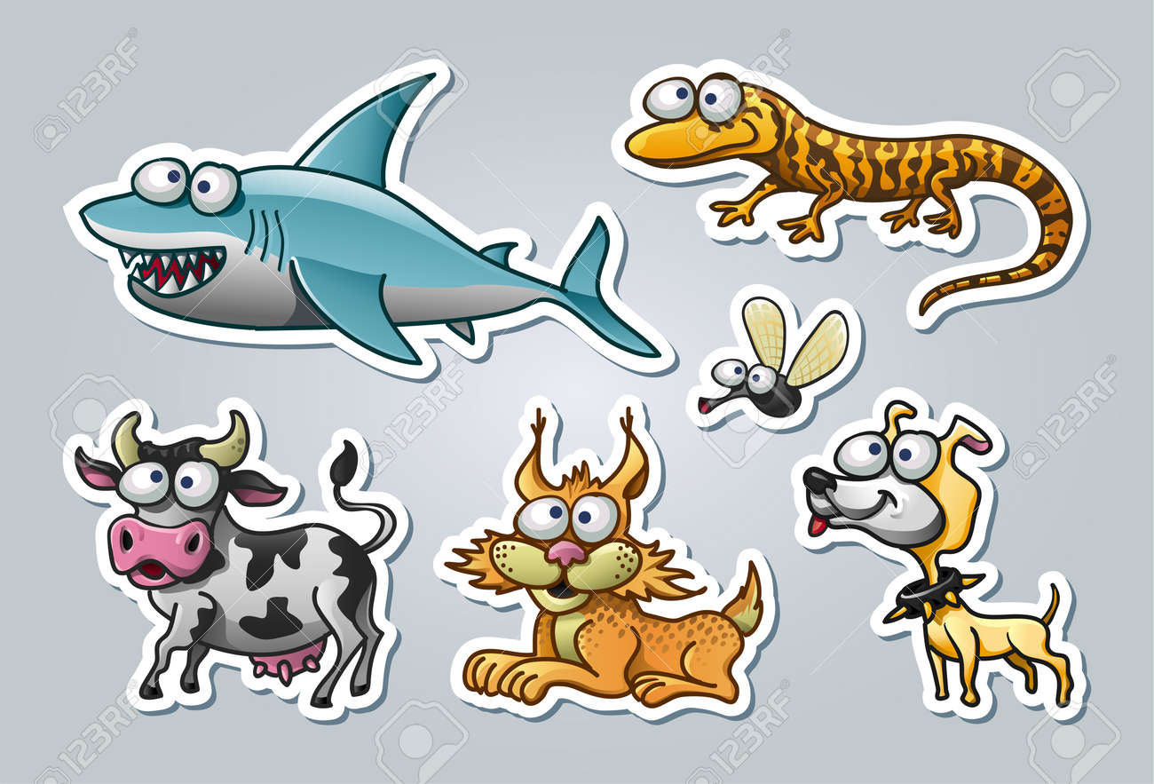 illustrated animals Stock Vector - 15328395