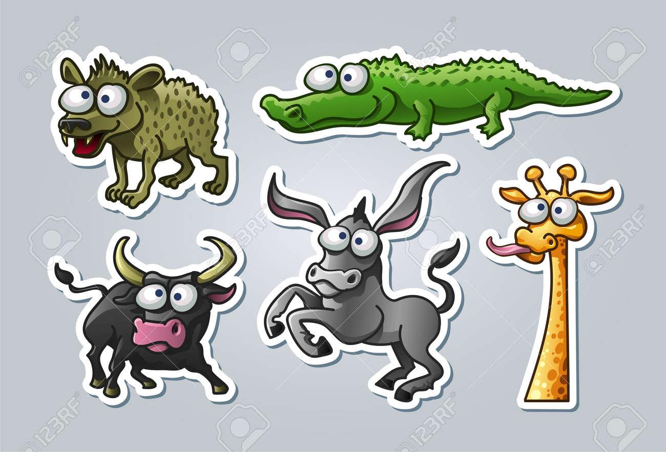 illustrated animals Stock Vector - 15328401