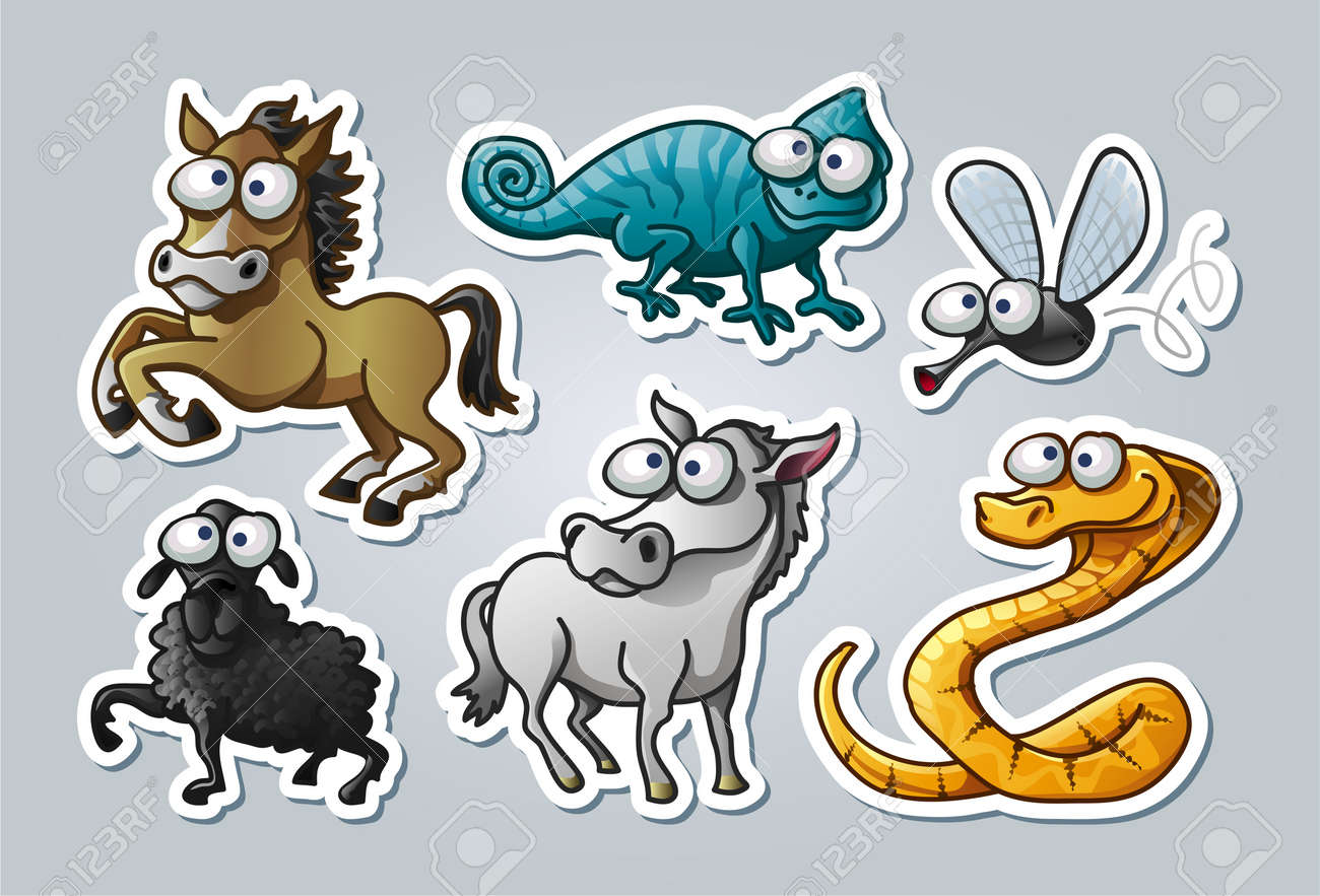 illustrated animals Stock Vector - 15328394