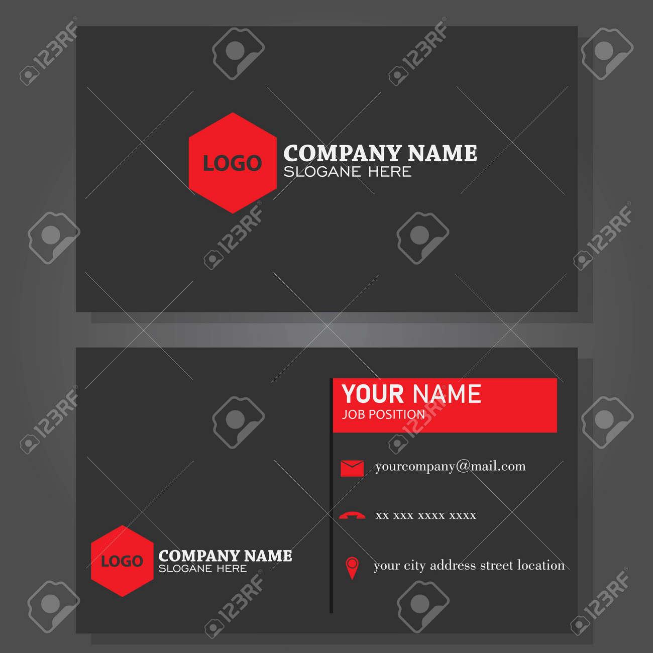 Illustration vector design of business card - 143778147