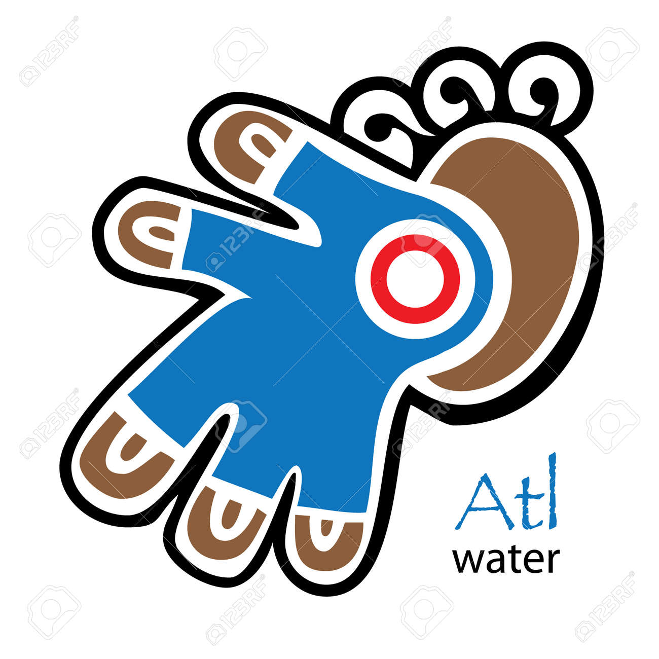 Blue brown and red aztec water symbol royalty free cliparts blue brown and red aztec water symbol stock vector 55161732 biocorpaavc Images
