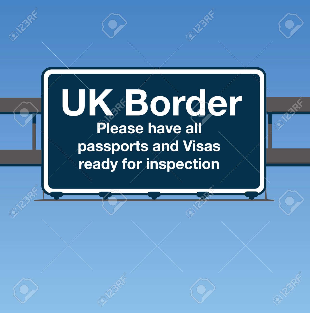 UK Border Road Sign - 57131041