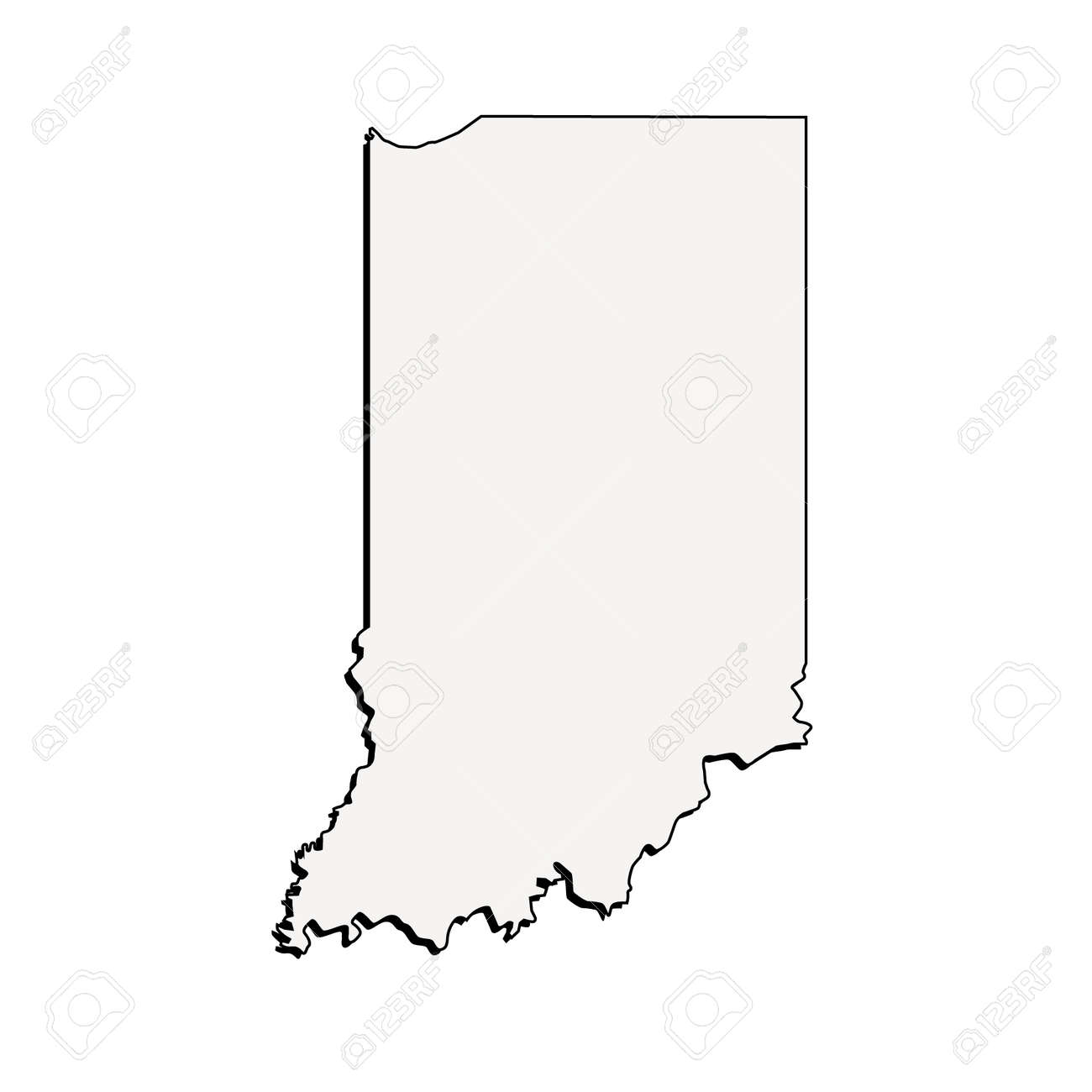 Vector Indiana State 3D Outline Map on indiana state outline eps, indiana state flower, california state outline, indiana state geography, new orleans map outline, indiana outline vector, indiana state outline clip art, kentucky state shape outline, alabama map outline, tennessee map outline, mo state outline, indiana state highest point, columbian exchange map outline, ohio state outline, indiana state shape, indiana city outline, south florida map outline, houston map outline, cincinnati map outline, aztec empire map outline,