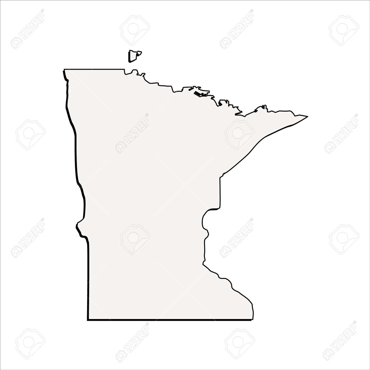 vector minnesota state 3d outline map royalty free cliparts vectors