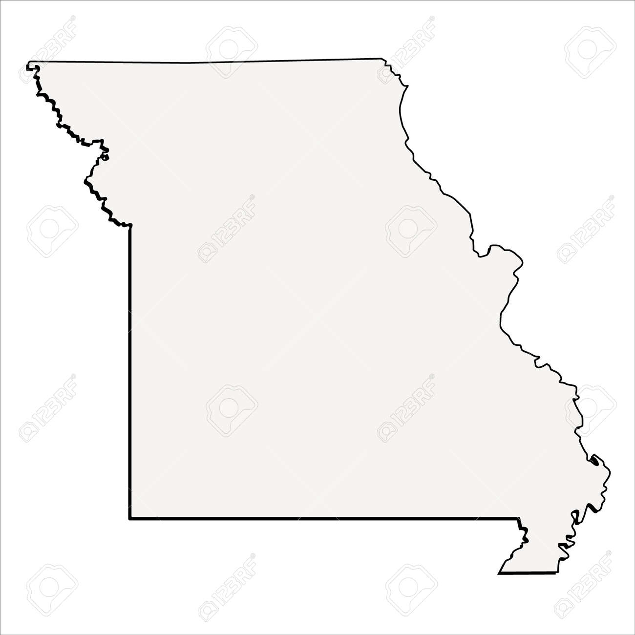 Usa Map Raster Stock Photos Pictures Royalty Free Usa Map - Missouri state map usa