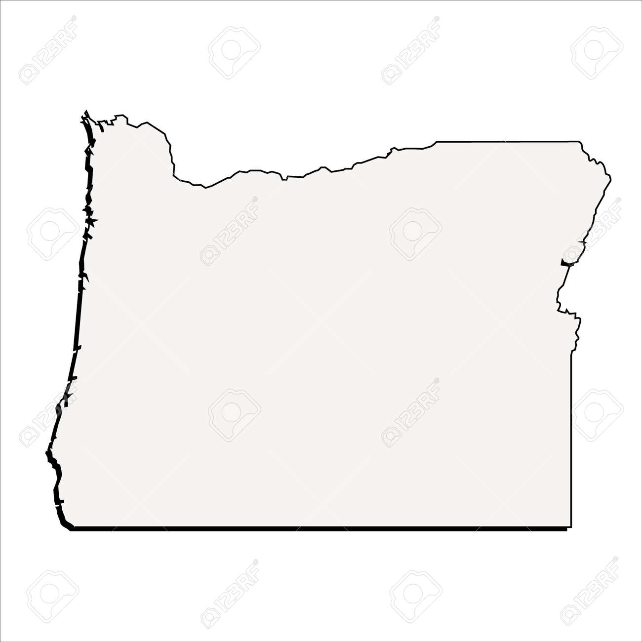 vector oregon state 3d outline map royalty free cliparts vectors