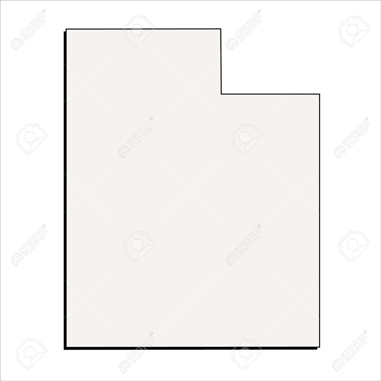 Vector Utah State 3D Outline Map - 58605348