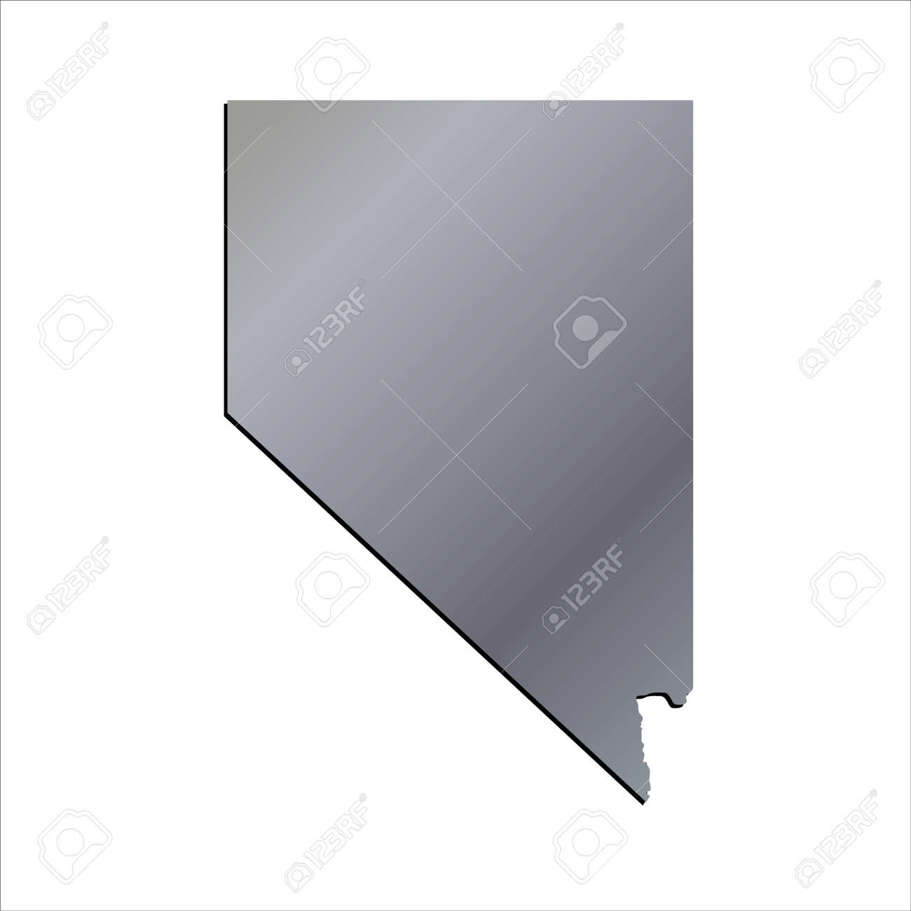 3d Nevada State Usa Aluminium Outline Map Royalty Free Cliparts Vectors And Stock Illustration Image 60194872