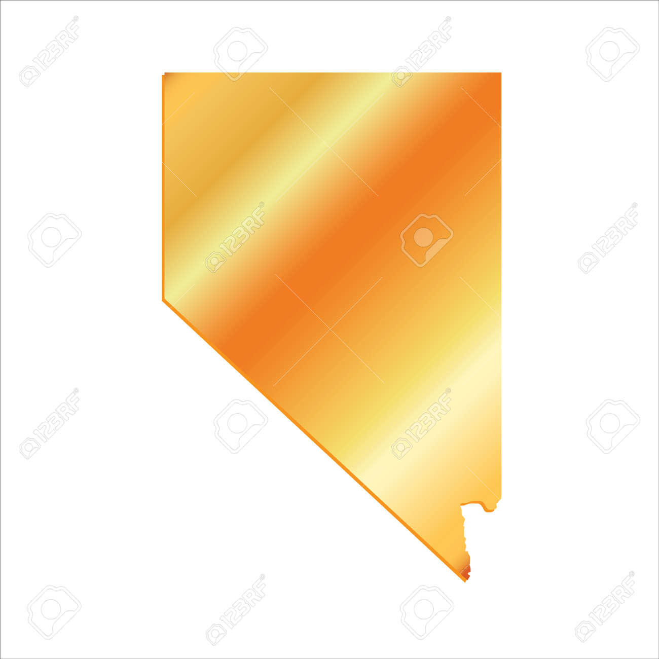 3d Nevada State Usa Gold Outline Map Royalty Free Cliparts Vectors And Stock Illustration Image 60194922