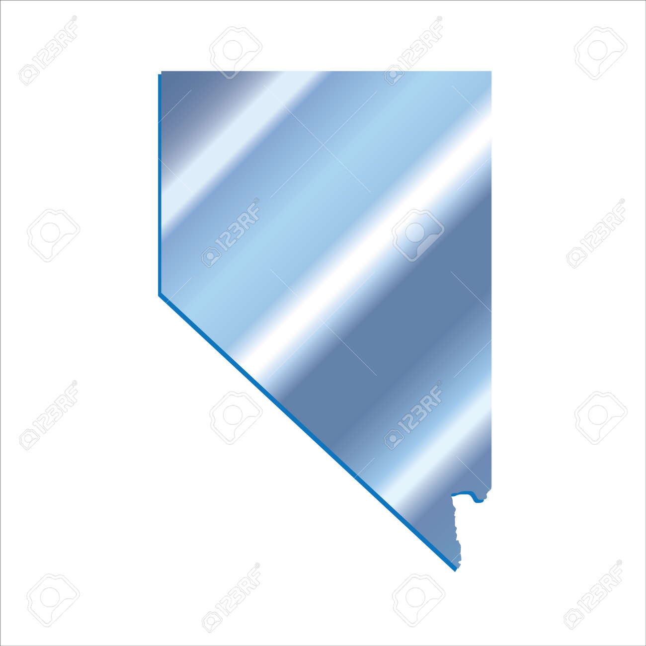 3d Nevada State Usa Iridium Blue Outline Map Royalty Free Cliparts Vectors And Stock Illustration Image 60468059