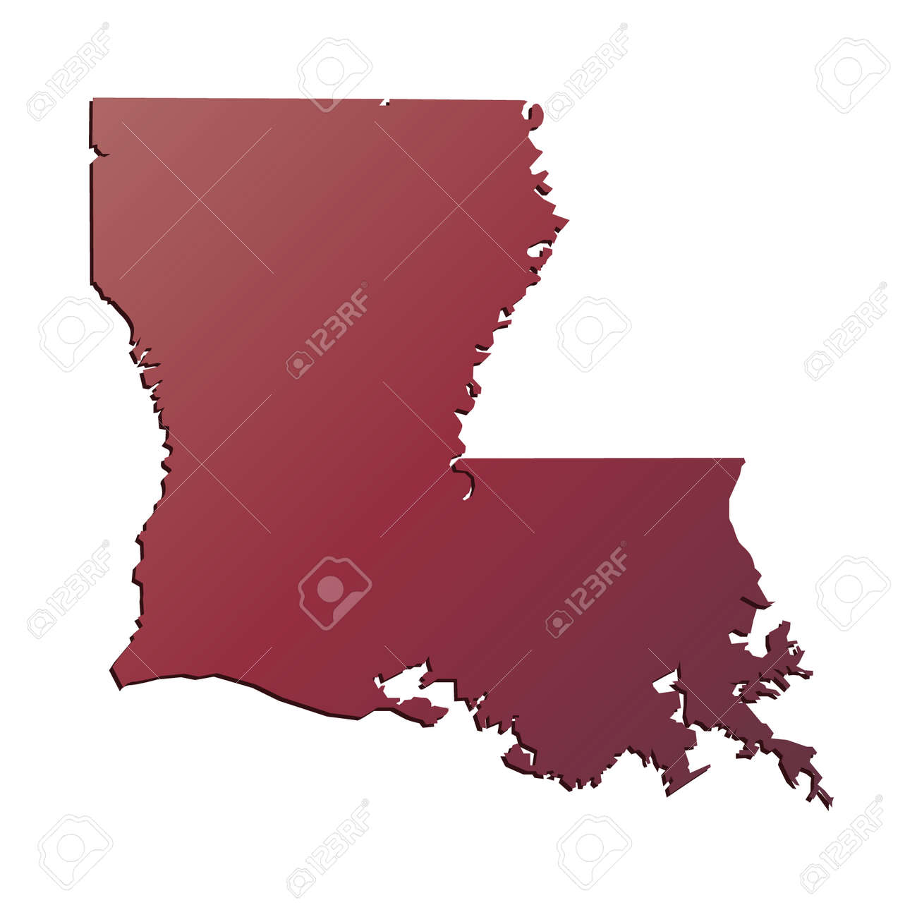 Louisiana State Map Road Map Of Louisiana - Louisiana on us map