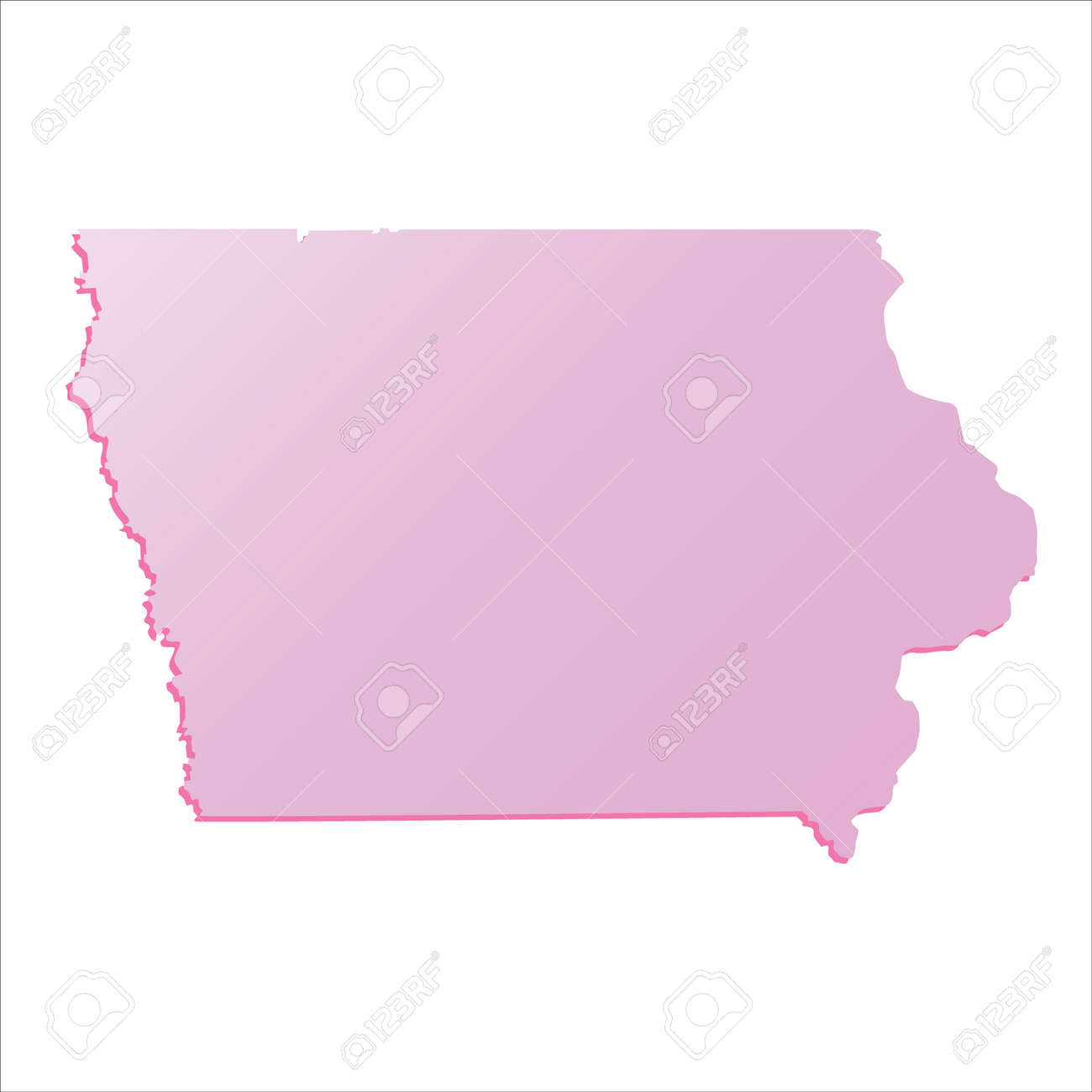 Map Of State Of Iowa Usa Vector Color Map Of Iowa State Usa Iowa - Iowa state in usa map