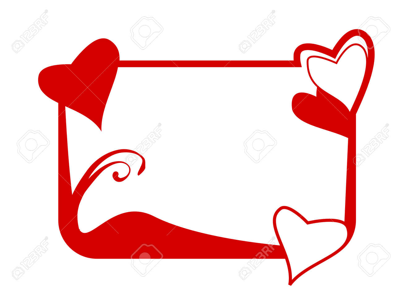 Frame With Heart Shapes Royalty Free Cliparts, Vectors, And Stock ...