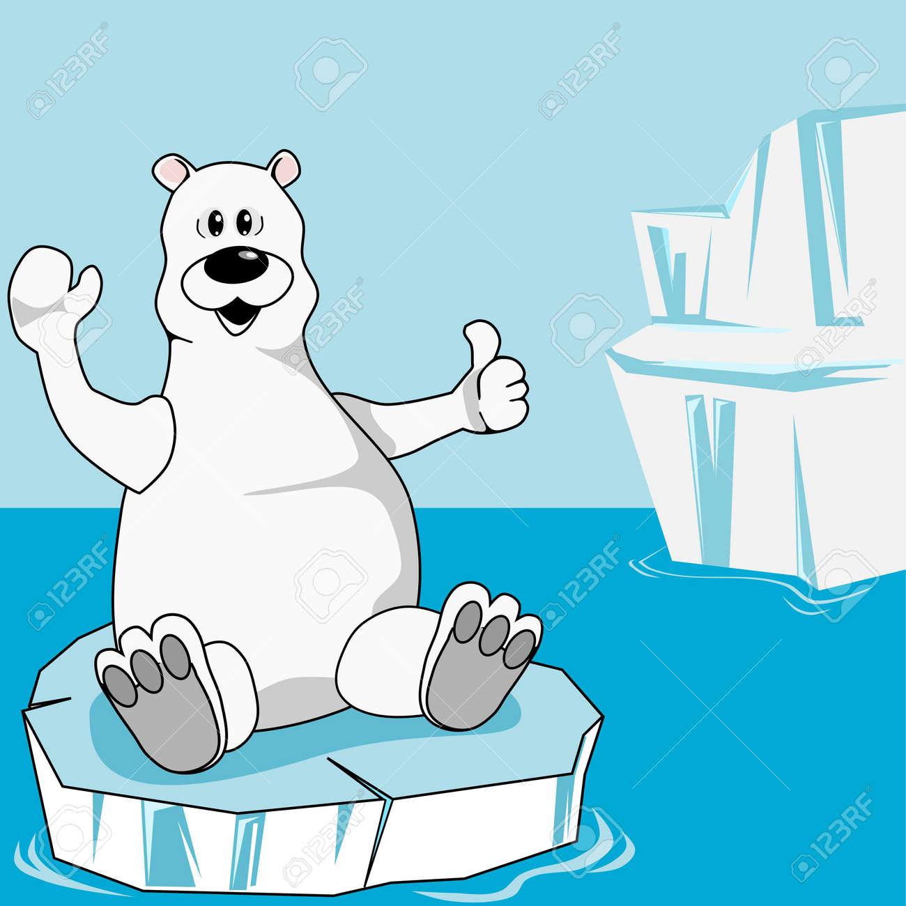 Polar bear on an ice floe Stock Vector - 9597824